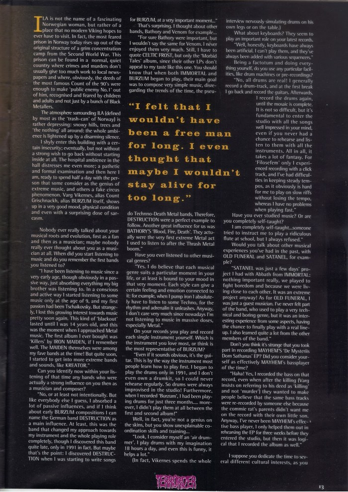 Terrorizer Magazine #28, March 1996