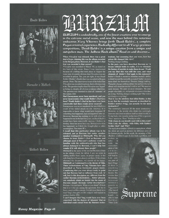 Heresy Magazine #3, 1998